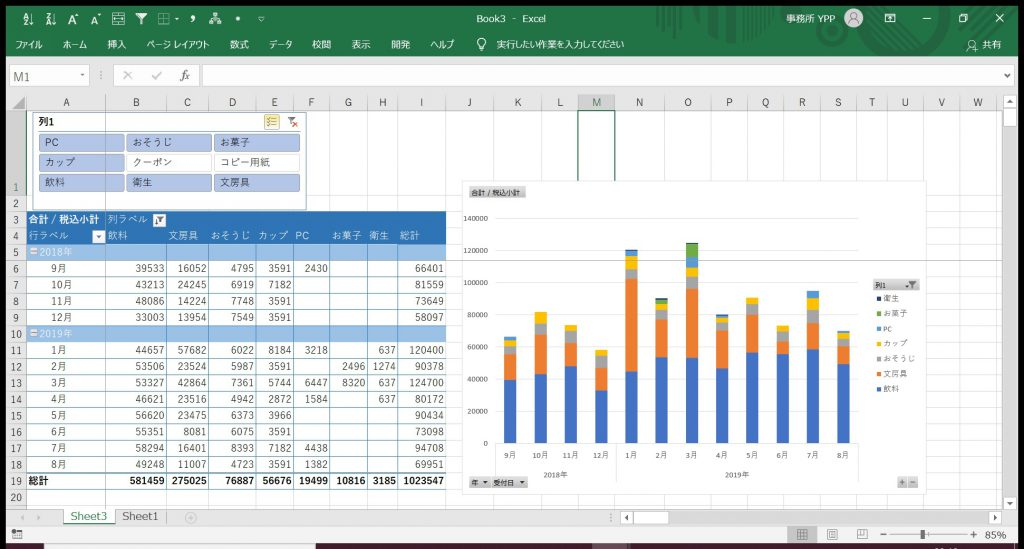 Excelで簡単に図やグラフを作成